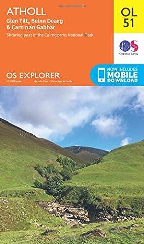 OS Explorer OL51 Atholl (OS Explorer Map)