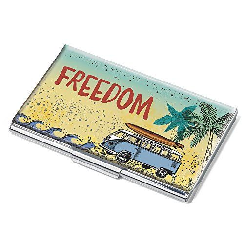 VW Freedom porta biglietti da visita - # cdc10 A170 - Multicolore - Metallo - Carte motivo: Freedom - Official Licensed By Volkswagen - adatto per circa 11 - prodotto originale di Troika