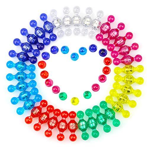 70 Stück Magnetic Push-Pins Farbe sortiert starke Magneten für Kühlschrank, Whiteboards, Karte und Kalender Bürobedarf Schulbedarf (11 * 17mm) (Schach-kühlschrank-magnete)