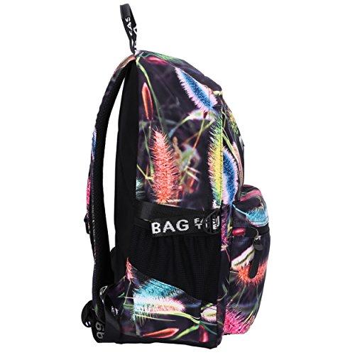 Mocha weir JIAYBL Laptop Taschen Schultern Kinder Schultaschen Rucksack Hochschule Mädchen Canvas Pack reisen (lila Pfau Blätter) lila