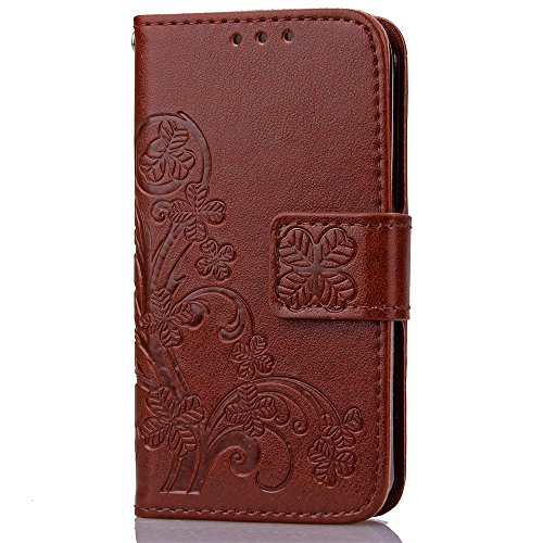 iPhone Case Cover portefeuille en cuir en 1 - 2 tpur folio coquille la couverture arrière intérieure magnétique avec carte détachable créneaux & bracelet pour iphone 4s ( Color : Light Purple , Size : Brown