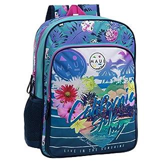 51LaeG76r4L. SS324  - Maui 45823A1 California Mochila Escolar, 15.6 litros, Color Azul