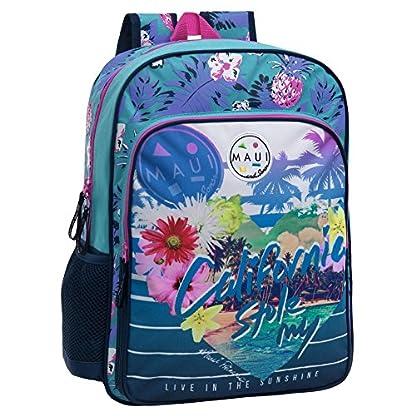 51LaeG76r4L. SS416  - Maui 45823A1 California Mochila Escolar, 15.6 litros, Color Azul
