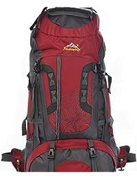 80 litros mochila Outdoor outdoor montañismo bolsas de hombro bolsas para hombres y mujeres bolsas de viaje Paquete rojo
