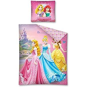 Parure de lit housse de couette r versible 140 x 200 cm - Tour de lit princesse disney ...
