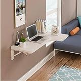 Table QIN WNQ Wandmontierter Ecktisch Schreibtisch Mit L-förmiger Arbeitsfläche 7 Farben / 3 Größen Computertisch A+ (Farbe : B, größe : 120 * 60 * 40cm)
