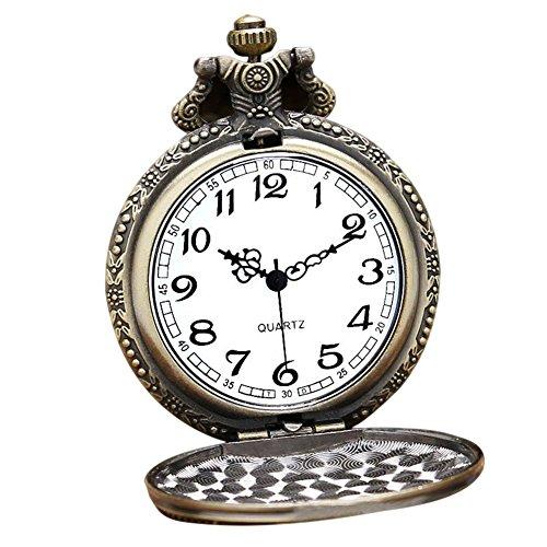 Dxlta Retro Bolsillo Cuarzo Reloj Hombres Mujeres