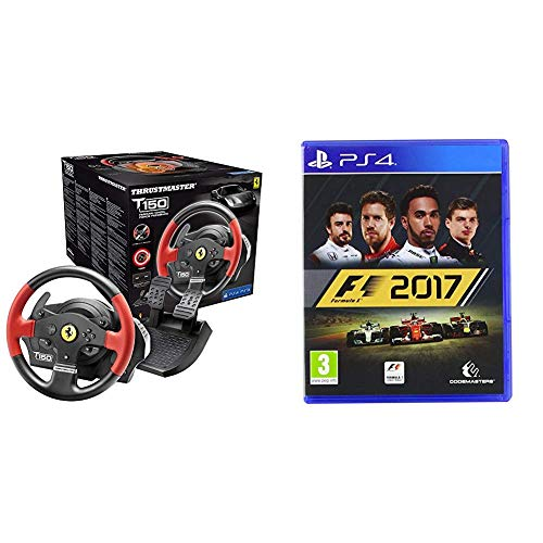 Thrustmaster T150 Ferrari Force Feedback Volante - PS4/PS3/PC + F1 2017: Formula 1 - PlayStation 4