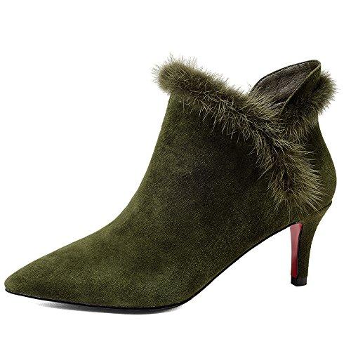 Nine Seven Stivali Alla Caviglia Donna Army Green