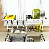 drain de lavabo/Panier à vaisselle en acier inoxydable/Étagères de cuisine-E