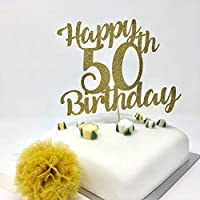 Personalised Age Birthday Cake Topper. 20th, 30th, 40th, 50th, 60th, 70th, 80th, 90th, 100th age topper. Happy Birthday topper. Customize 6 Colour
