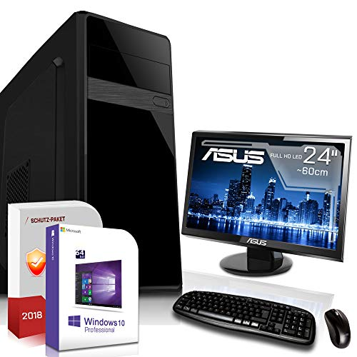 Komplett PC-Paket Set Ultra 12Kern • AMD FX-8800 4X3,4GHz • 8GB DDR4 • 512GB SSD und 1TB • 8Kern Grafik HD DirectX12 • USB 3.1• Win10• 24 Zoll LED TFT Monitor • Entry-Gaming Computer
