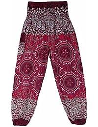 Yogahosen Männer Harem Yoga Hosen Nepal Indien Baumwolle Leinen Yoga Hosen Breite Bein Hippie Hohe Taille Lose Baggy Casual Freizeit Sport Hose GroßEr Ausverkauf