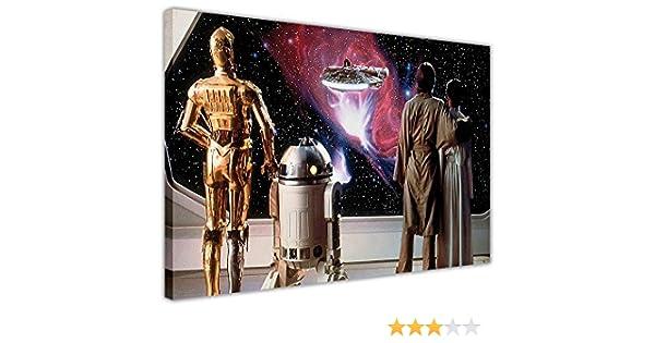A0 A1 A2 A3 A4 Sizes Star Wars Millenium Falcon Movie Giant CANVAS ART PRINT