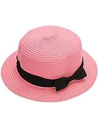 La Cabina Chapeau de Paille -Chapeaux Femme Melon en Dentelle - Chapeau Femme été Plage-Chapeau Pliable Anti-soleil - Taille Unique