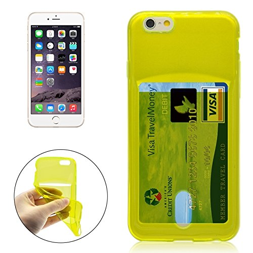 Phone case & Hülle Für IPhone 6 Plus / 6S Plus, Ultrathin TPU Schutzhülle mit Kartensteckplatz ( Color : Transparent ) Green