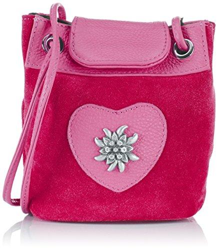 Edelherz - Edelweiß Umhaengetasche, Borsa A Tracolla da donna Rosa (Pink)