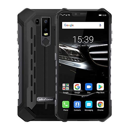 Ulefone Armor 6E (2019) Android 9.0 IP69K Robustes Smartphone Ohne Vertrag - Helio P70 Octa-Core Outdoor Handy 4 GB + 64GB,6,2\'\'FHD+Kerbenbildschirm, drahtlose Aufladung/NFC, wasserdicht Schwarz