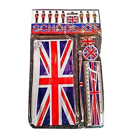 London England British UK Union Jack Motto Schule Kit Souvenir. Souvenir/Speicher/MEMORIA. Trendy, beliebt British UK Sammler Souvenir. Eine einzigartige und unvergessliche Geschenk. KOMPLETT bedruckt Schul-Set, Charming Souvenir für Studenten und Erwachsene. Kit Scolaire/Schule Set/Kit Scuola/Kit Makrele.