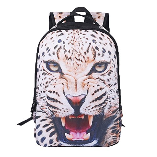 Ohmais Rücksack Rucksäcke Rucksack Backpack Daypack Schulranzen Schulrucksack Wanderrucksack Schultasche Rucksack für Schülerin leopard