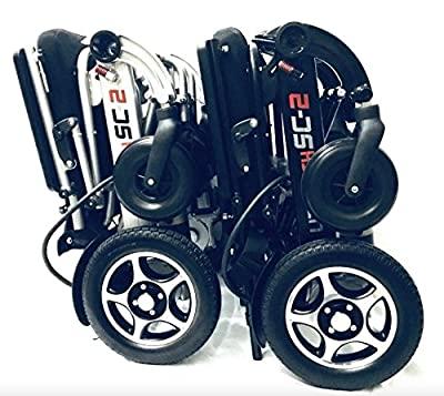 LITH-TECH SMART CHAIR 2 Lightweight Electric Folding Wheelchair (most compact on the market)