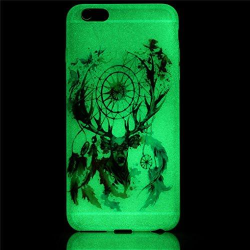 iPhone 6 Plus / 6S Plus Hülle, SATURCASE Schönes Muster Leuchtend Fluoreszierend Ultra Dünn Weich TPU Gel Silikon Schützend Zurück Case Cover Handy Tasche Schutzhülle Handyhülle Hülle für Apple iPhone Muster-15