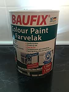 farbe hellgrau 1 liter baufix buntlack seidenmatt. Black Bedroom Furniture Sets. Home Design Ideas