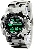 #10: Addic Multicolor Dial Army White Strap Digital sports Watch For Men's & Boys.