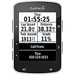 "Garmin Edge 520 Cyclocomputer con GPS, display 2.3 "", Connect, Power Sensor Ant +, fino a 15 Hours Autonomy, Black - Solo dispositivo"