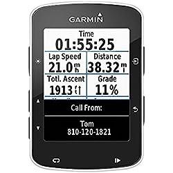 1 de Garmin Edge 520 GPS - Ordenador de bicicleta sin banda de cardio y sensores de velocidad / cadencia, notificación inteligente, conexión ANT +