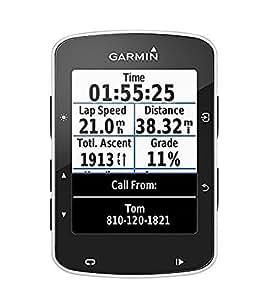 Garmin Edge 520 GPS Bike Computer senza Fascia Cardio e Sensori a Cadenza/Velocità, Smart Notification, Connessione ANT+, Nero/Bianco