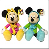 Original Disney Mickey Mouse und Minnie Mouse Bedtime Buddies Wandflaschenöffner in Bademantel ca. 40.64 cm