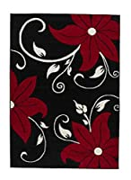 Think Rugs 060 x 120 cm Verona OC15 Rug, Black/ Red from Think Rugs