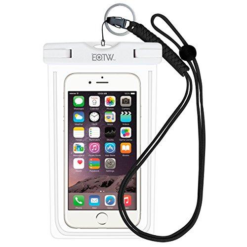 EOTW IPX8 Wasserdichte Tasche, Wasser- und staubdichte Hülle für Geld, Datenträger und Smartphones bis 15,24 cm (6 Zoll), Ideal für den Strand, Wassersport, fürs Radfahren, Angeln, usw. Weiß …