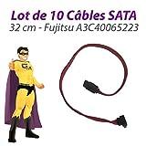 Pack x10 Kabel sata A3C40065223 Fujitsu siemens esprimo E5700 E5905 32cm pink
