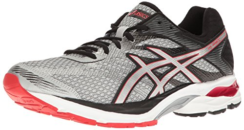 ASICS Men's Gel-Flux 4 Running Shoe, Glacier Grey/Silver/Vermilion, 9 M US