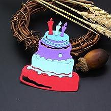 mAjglgE - Plantilla de Metal para Troquelado de Tartas de cumpleaños, Color Plateado