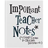 Bright Side Important Teacher Notes Book - Custard Creams Vs Chocolate Digestives