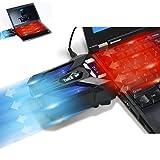 Takit S01 - Refroidissement pour PC portable - Extracteur d'Air Chaud USB - 4200RPM