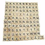 Dosige 101 Holz-Alphabet Scrabblefliesen Buchstaben Holz Scrabble Und Zahlen Buchstaben Alphabet Scrabbles Crafts Für Das Kunsthandwerk (Großbuchstaben Gemischt)