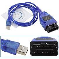 BV & Jo - Cavo di interfaccia USB KKL VAG-COM 409.1 per diagnosi auto OBD II, ideale per la gestione e la manutenzione della centralina, specifico per Audi, Volkswagen e