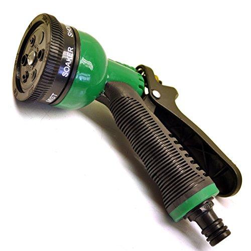 Tuyau flexible Pistolet arrosage 6 Fonctions Buse/grip antidérapant en caoutc