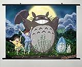 Wallscrolls-Wonderland Anime Manga My Neighbor Totoro Stoffposter Wallscroll Wallposter Tapete Poster 60x40CM