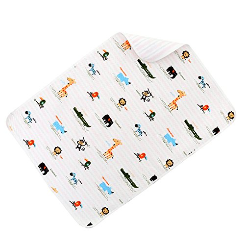 Preisvergleich Produktbild Ailina hautfreundlich weiche Baumwolle Wickelauflage wiederverwendbar Baby wasserdicht Wickelunterlage für Windel wechseln in verschiedenen Größen und Tier Designs