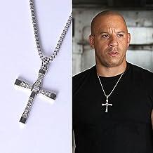 Fast and Furious Dominic Toledo Toretto Collar Colgante En Forma De Cruz Hombre Nuevo