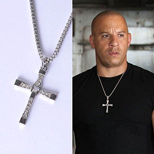 Fast And Furious Dominic Toledo Toretto Herren Kreuz Anhänger Halskette (Der Auf Kostüme Welt Ganzen)