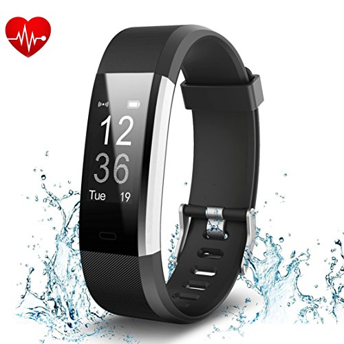 Fitness Tracker Impermeabile IP68 Bluetooth 4.0, Bracetek Orologio Fitness Braccialetto Watch Bracciale Cardiofrequenzimetro Smartwatch, sonno, notifica di SMS per Android e iOS Telefono Cellulare
