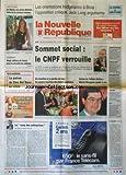 NOUVELLE REPUBLIQUE (LA) [No 15561] du 20/12/1995 - AU MAROC UNE JEUNE MEROISE - KAREN CHAUSSARD - IDOLE DE LA CHANSON BERBERE - L'OPPOSITION CRITIQUE - JACK LANG ARGUMENTE - SOMMET SOCIAL / LE CNPF ET LE PRESIDENT JEAN GARDOIS - SUITES DE L'AFFAIRE BOTTON / MARTIN BOUYGUES GARDE A VUE - LE SANG DES ENTREPRISES PAR ARBONA - SPORTS / SKI AVEC YVES DIMIER ET ALBERTO TOMBA - ISRAEL / LE PROCES DE L'ASSASSIN DE RABIN A TEL-AVIV - LE COMEDIEN HENRI VIRLOJEUX EST MORT - 2 ENFANTS SONT MORTS ASPHYXIES