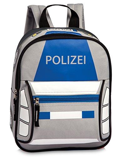 Fabrizio Polizeirucksack Rucksack Kindergartenrucksack Jungen Mädchen, 26 x 22 x 9,5 cm, blau