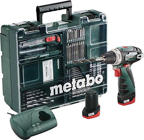 Preisvergleich Produktbild Metabo Akkubohrschrauber Powermaxx Set,Gewicht 0,8 Kg